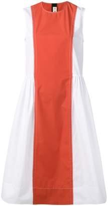 Marni contrast panel flared dress