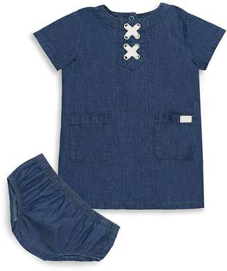 7 For All Mankind Baby Girl's Two-Piece Denim Dress and Bloomers Set - Dark Blue/Navy, Size 0-3 mo