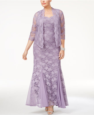 R & M Richards Plus Size Lace Gown & Jacket $139 thestylecure.com