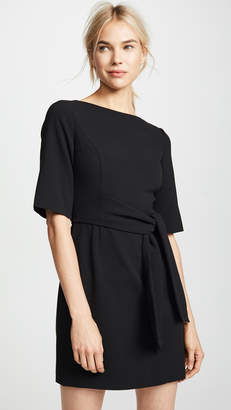Alice + Olivia Virgil Boatneck Wrap Dress