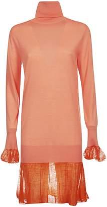 Sacai Turtleneck Knit Dress