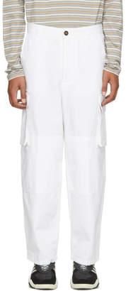 Ami Alexandre Mattiussi White Cargo Pants