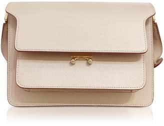 Marni Light Camel Saffiano Leather Trunk Bag