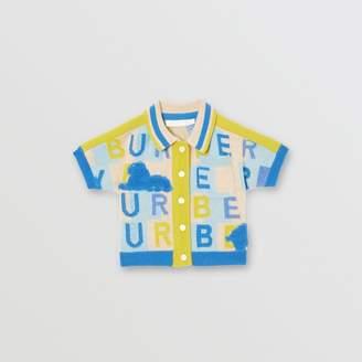 Burberry Childrens Short-sleeve Logo Print Cashmere Cardigan