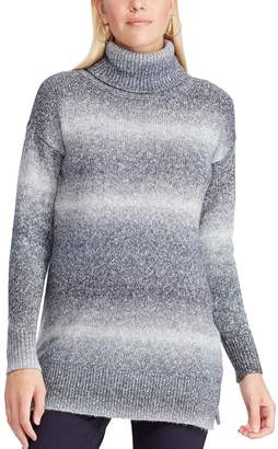 Chaps Women's Ombre-Stripe Turtleneck Sweater