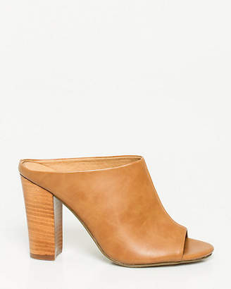Le Château Leather-Like Open Toe Mule