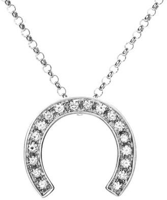 Celine Heritage  18K White Gold 0.20 Ct. Tw. Diamond Necklace