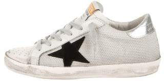Golden Goose Mesh Low-Top Sneakers