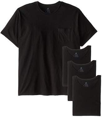 Hanes Men's Big-Tall Assorted Big and Tall Pocket T-Shirt,(Pack of 4)