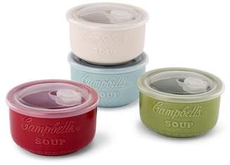 Campbells WMTL179 Ceramic Soup Bowls w/ Air Vent Lids, set of 4