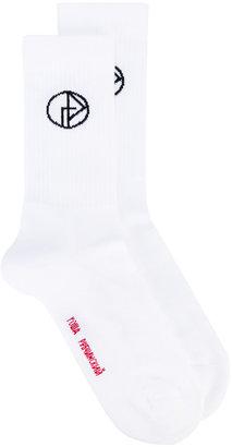 Gosha Rubchinskiy logo socks $29.26 thestylecure.com