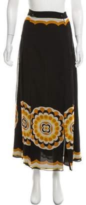 Anna Sui Printed Midi Skirt