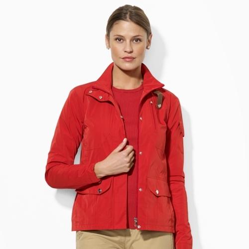 Ralph Lauren Leather-Trimmed Full-Zip Coat