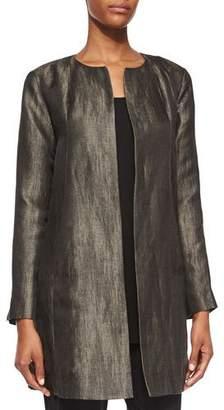 Eileen Fisher Long-Sleeve Herringbone Swing Jacket
