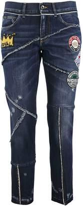 Dolce & Gabbana Logo Patch Jeans
