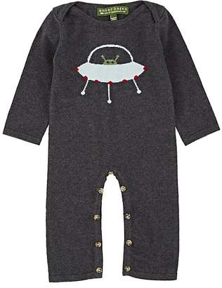 Amber Hagen INFANTS' SPACESHIP-KNIT COTTON-CASHMERE COVERALL