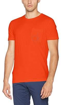 Calvin Klein Men's Typor Cn Tee Ss Kniited Tank Top, (Rebel Red), Large