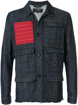 Hydrogen red patch multipocket denim jacket