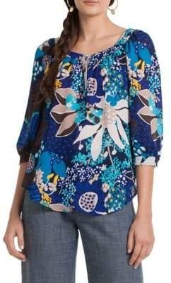 Trina Turk Wren 2 Floral-Print Top