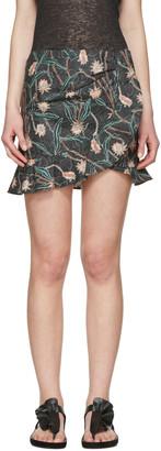 Isabel Marant Grey Luna Miniskirt $455 thestylecure.com