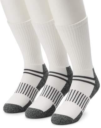 Work Iq Men's Work IQ 3-pack Half-Cushioned Crew Socks