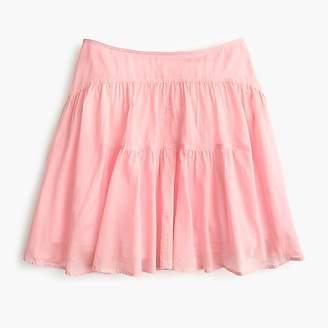 J.Crew Tall tiered cotton voile mini skirt