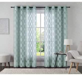 Langley Street Lynfield Geometric Sheer Grommet Single Curtain Panel