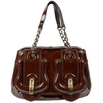 Fendi B Bag Burgundy Patent leather Handbag