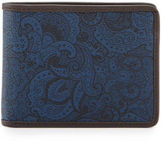 Robert Graham Slim-Fold Leather Wallet, Blue Paisley $55 thestylecure.com
