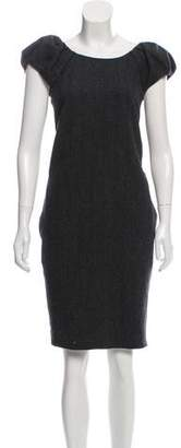 Dolce & Gabbana Virgin Wool Herringbone Dress w/ Tags
