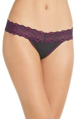Hanky Panky 'Heather' Jersey Low Rise Thong