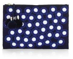 Figue Soma Hand-Beaded Polka-Dot Pouch
