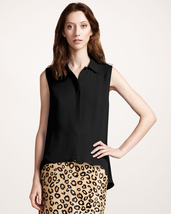 Theory Sleeveless Georgette Blouse