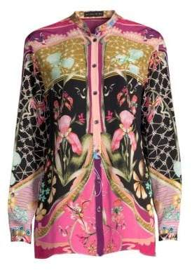 Etro Silk Garden Of Eden Blouse
