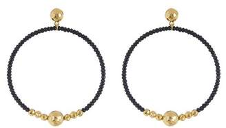 Gorjana Sayulita Beaded Hoop Drop Earrings