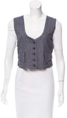 Torn By Ronny Kobo Herringbone Belted Vest w/ Tags