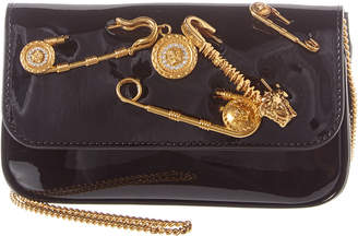 Versace Safety Pin Mini Patent Shoulder Bag