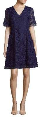 Adrianna Papell Floral Lace A-Line Dress