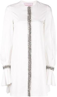 Carolina Herrera crystal embellished shirt dress