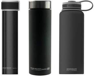 Asobu ASOBU 40-Ounce Mighty Flask, 32-Ounce PourOver Insulated Coffee Maker & 17-Ounce Le Baton Travel Bottle