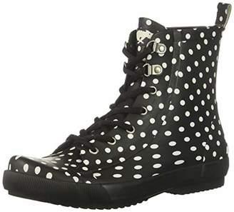 Rocket Dog Women's Rainy/Rubber W/Off White DOT Printed Rain Boot