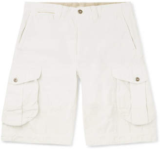 Incotex Slim-Fit Garment-Dyed Cotton And Linen-Blend Cargo Shorts