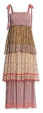 Zimmermann Women's Juniper Tiered Print Midi Dress