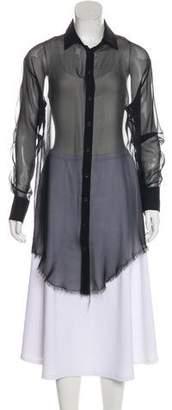 Rag & Bone Sheer Button-Up Blouse