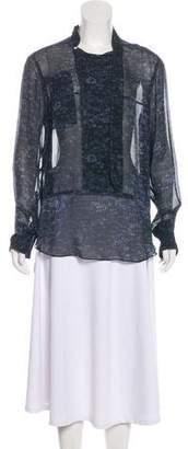 Isabel Marant Silk Long Sleeve Tunic