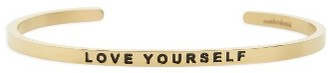 Women's Mantraband Love Yourself Engraved Cuff $35 thestylecure.com