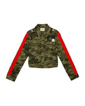 Hudson Surplus Embellished Cropped Camo Jacket, Size S-XL