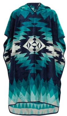Pendleton - Geometric Jacquard Hooded Cotton Towel - Mens - Blue