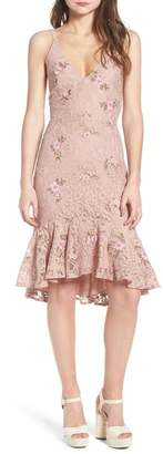 WAYF Ferrara Flare Hem Lace Dress
