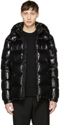 Moncler Black Down Maya Jacket $1,070 thestylecure.com
